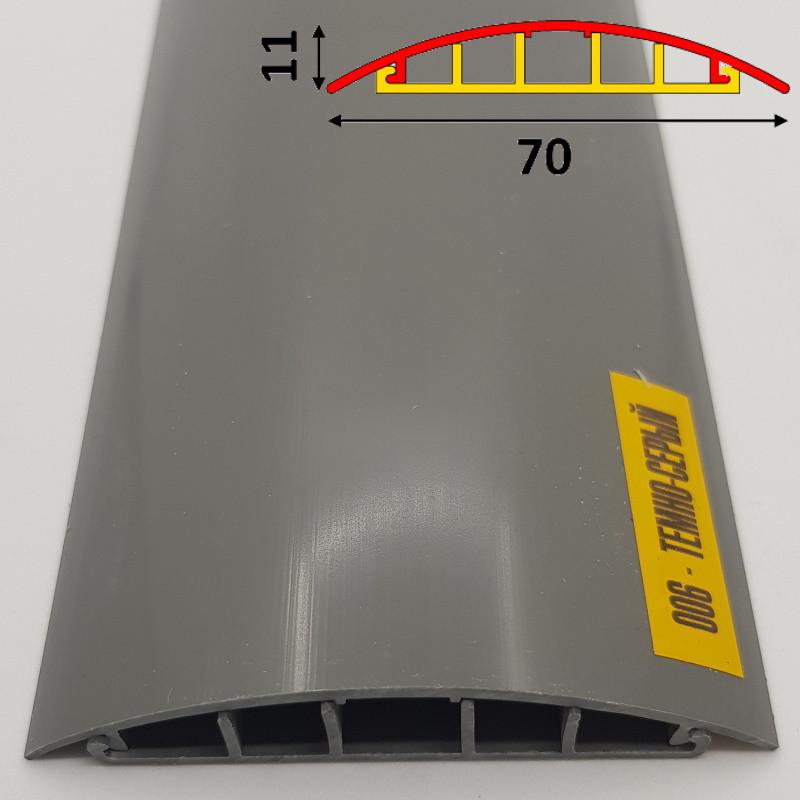 Профиль для защиты напольной проводки на самоклеющейся основе 70 мм 2,7 м Тёмно-серый