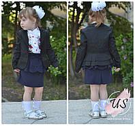 Красивый подростковый школьный пиджак. 3 расцветки, фото 1