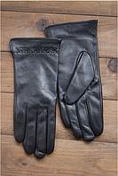 Женские кожаные перчатки Shust Ариадна сенсорные черные