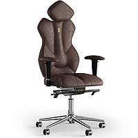 Кресло KULIK SYSTEM ROYAL Антара с подголовником без строчки Каштановый 5-901-BS-MC-0307, КОД: 1692612