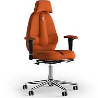 Кресло KULIK SYSTEM CLASSIC Ткань с подголовником без строчки Оранжевый 12-901-BS-MC-0510, КОД: 1696978