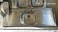 Мойка кухонная накладная из нержавеющей стали 400 мм х 1370 мм, фото 1