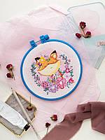 Набор для вышивки крестом Сны весны (15 см х 15 см) Абрис Арт AHM-020