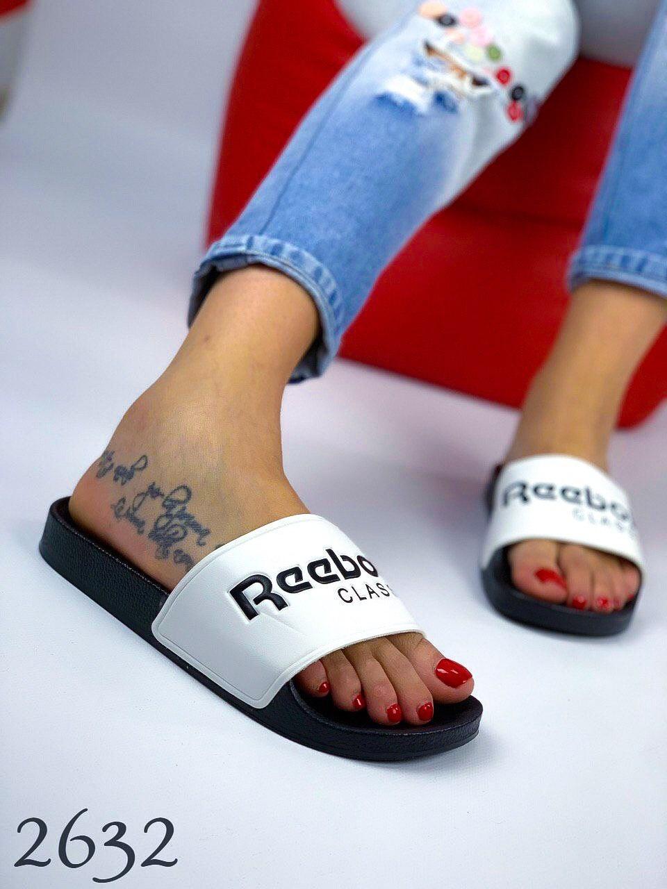 "Шлепки "" Reebok white&black"