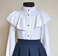 Детская нарядная школьная блузка для девочек 9-13 лет
