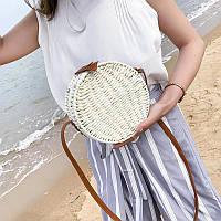 Женская круглая плетеная сумка  Round, фото 1