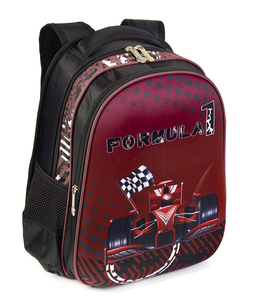 Школьный рюкзак панцирь для мальчиков Формула 1, ортопедическая спинка 39*29см