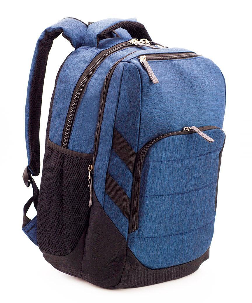 Школьный стильный рюкзак, Синий, ортопедическая спинка 40*29см