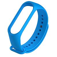 Силиконовый синий ремешок на фитнес трекер Xiaomi mi band 4 / 3 браслет аксессуар замена
