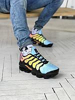 Обувь мужская Nike VaporMax plus. Мужские кроссы Найк Вапормакс Плюс цветные.