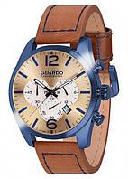 Мужские наручные часы Guardo Коричневый S01653 BlGBr, КОД: 1548721
