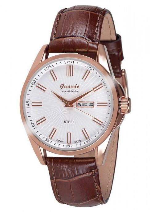 Чоловічі наручні годинники Guardo S09438 RgWBr