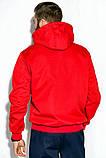 Костюм спортивный мужской с капюшоном на флисе (красный с синим, р.M), фото 4