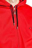 Костюм спортивный мужской с капюшоном на флисе (красный с синим, р.M), фото 5