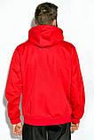 Костюм спортивный мужской с капюшоном на флисе (красный с синим, р.M), фото 10