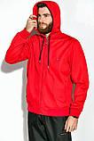 Костюм спортивный мужской с капюшоном на флисе (красный с синим, р.M), фото 9