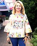 Блуза в этно стиле хлопок , блуза в українському стилі , вільна бавовна Бл 101, фото 2