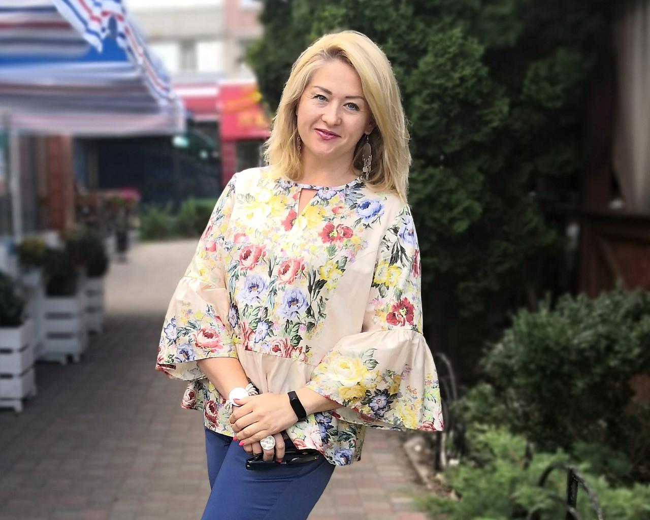 Блуза в этно стиле хлопок , блуза в українському стилі , вільна бавовна Бл 101