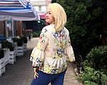 Блуза в этно стиле хлопок , блуза в українському стилі , вільна бавовна Бл 101, фото 4