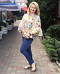 Блуза в этно стиле хлопок , блуза в українському стилі , вільна бавовна Бл 101, фото 3