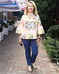 Блуза в этно стиле хлопок , блуза в українському стилі , вільна бавовна Бл 101, фото 5