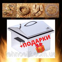 Домашняя коптильня для горячего копчения из нержавейки домик 300х300х250