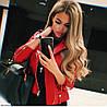 Женская модная косуха из эко-кожи в двух цветах, фото 3