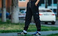 Черные штаны с манжетами Ястреб