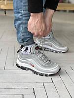 Найк 97 серые унисекс Nike 97 кроссовки демисезонные. Кроссы женские и мужские в сером цвете