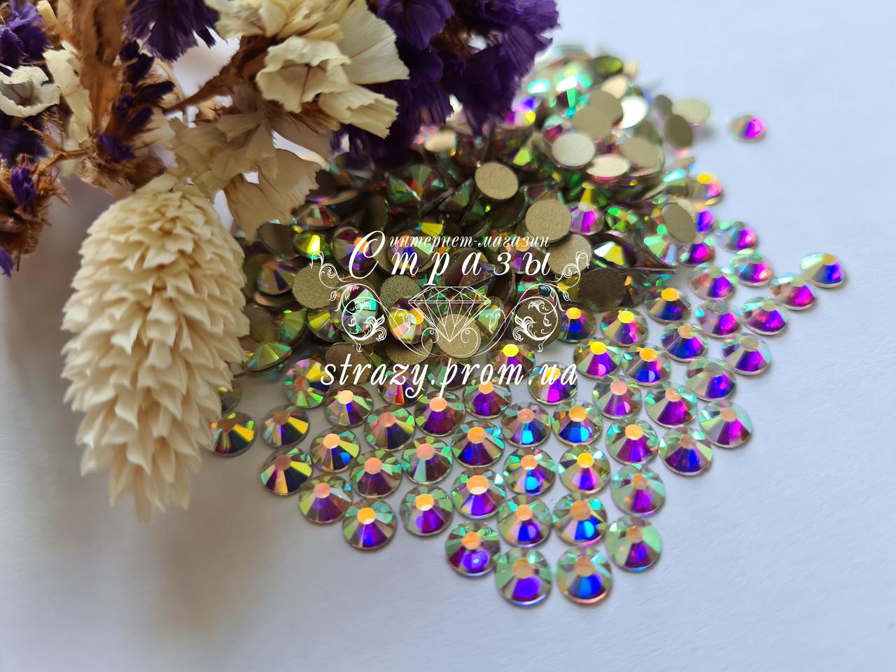 Стрази ss20 Crystal AB +++HongKong+++ (5,0 мм) 100шт. золота підкладка