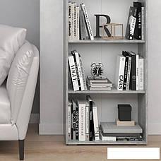 Удобный стеллаж для дома, полки, книжный шкаф из ДСП M, Белый, фото 3