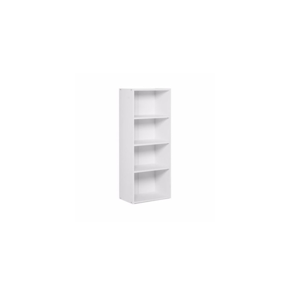 Удобный стеллаж для дома, полки, книжный шкаф из ДСП M, Белый