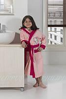 Махровый халат для девочек 7-8 лет  Philippus нежно розовый