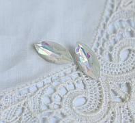 Стразы стеклянные Маркиз (Лодочка) 15*7 мм, белый Delight