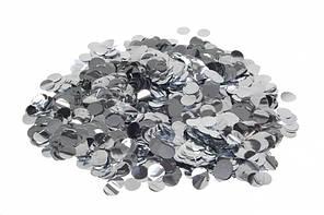 Конфетті кружечки 10мм срібло 25г 5-56750