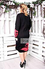 Теплое женское платье для полных Орхидея белая, фото 3