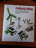 Конструктор робот SOLAR 6 в 1 на сонячній батареї Robot kids, фото 4