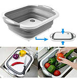 Дошка обробна складна 2 в 1 для овочів і фруктів, фото 4