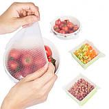 Набір силіконових плівок для зберігання продуктів Stretch and Fresh, фото 3