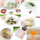 Набір силіконових плівок для зберігання продуктів Stretch and Fresh, фото 6