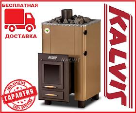 Банная печь-камин Kalvis PR2-S 15 кВт