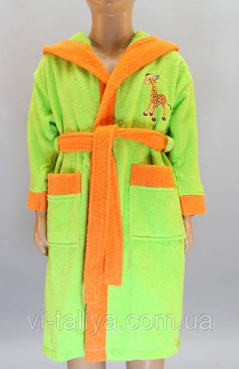 Детский махровый халат на 7-8 лет, фото 1