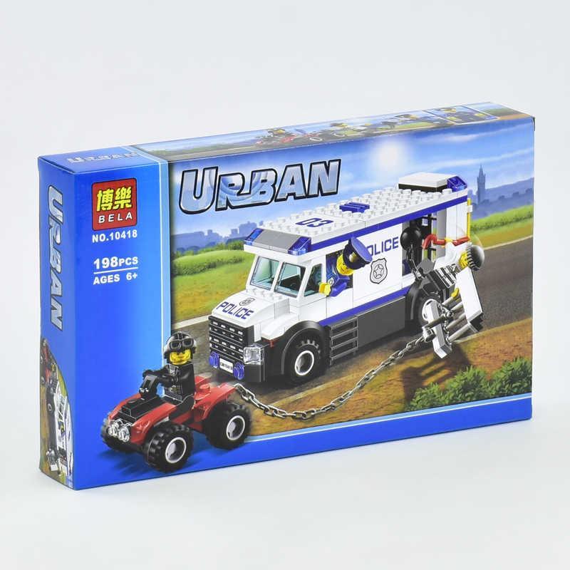 """Конструктор 10418 Bela Urban (48) 198 деталей, """"Автомобиль для перевозки заключенных"""" в коробке"""