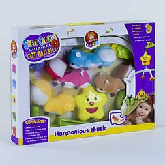 Карусель D 090 (36/2) музыкальная, заводной механизм, мягкие игрушки, в коробке