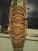 Плетеная корзина из лозы мал.из картонным дном
