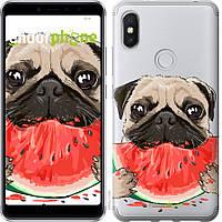 Силиконовый чехол Endorphone на Xiaomi Redmi S2 Мопс и арбуз 4665u-1494-26985, КОД: 1722123