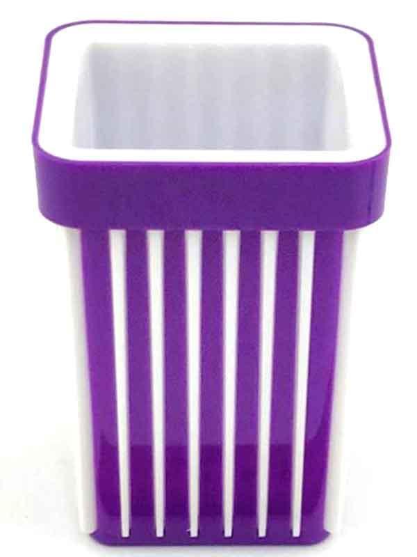 Стакан для ручек пластик в полоску