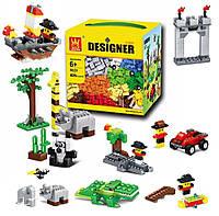 Детский блочный конструктор с мелкими деталями для мальчиков копия Лего Wange Designer, 625 деталей