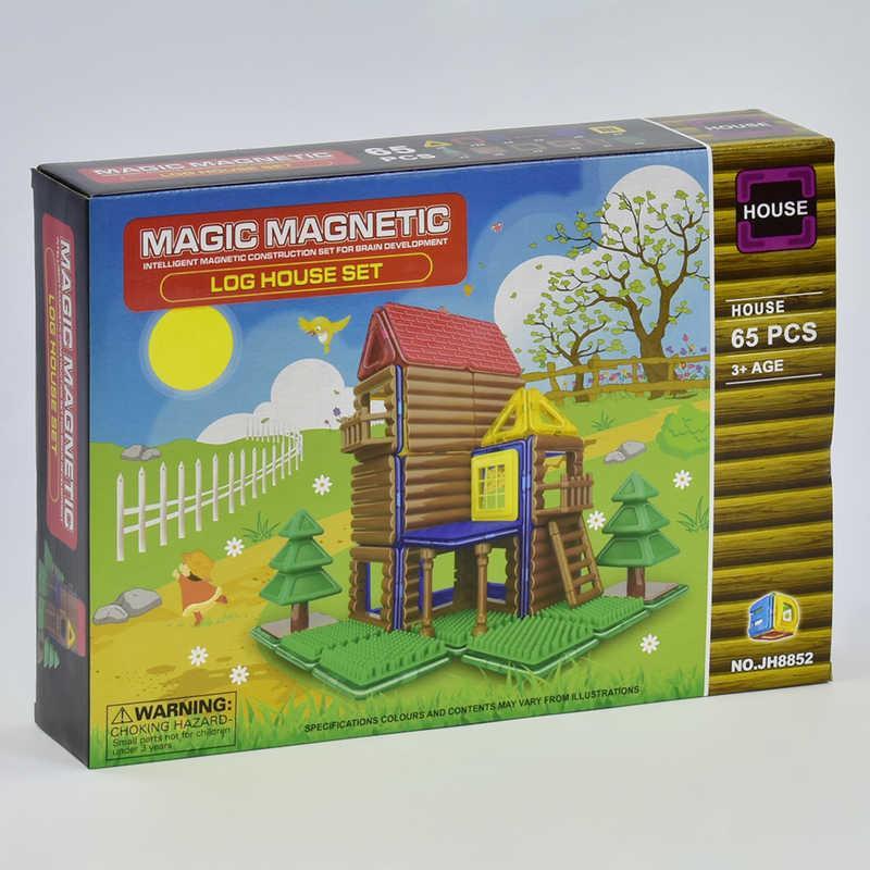 Конструктор магнітний JH 8852 (48) Будиночок, 65 деталей, в коробці