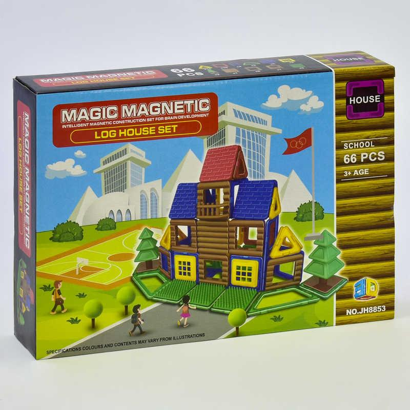 Конструктор магнитный JH 8853 (48) Школа, 66 деталей, в коробке